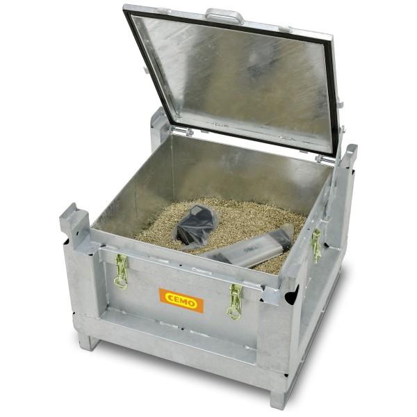 Lagerung Lithiumbatterien Sammelbehälter Stahl