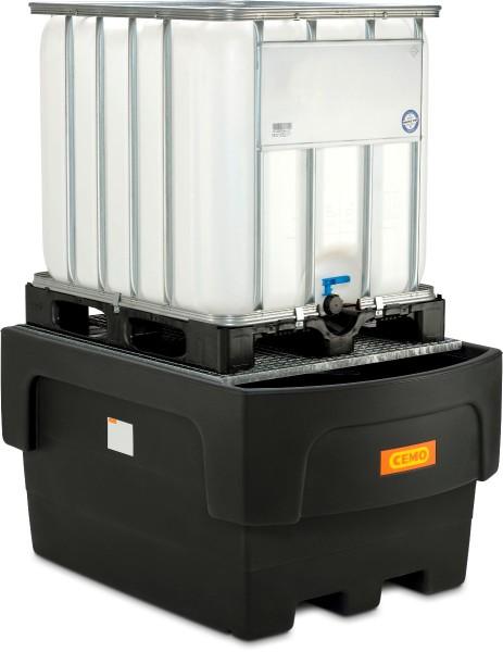 IBC-Auffangwanne PE 1100-C/1 mit Abfüllvorsatz