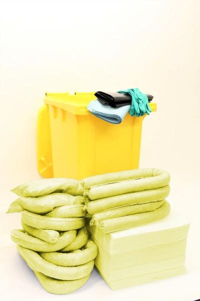 Chemikalienbindemittel Notfallset Tonne,