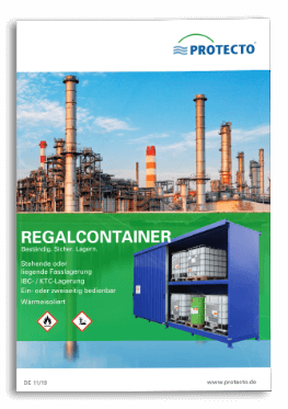 PROTECTO Regalcontainer zur Lagerung Gefahrstoffe