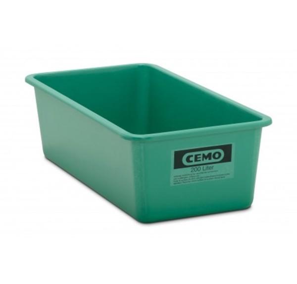 GFK Rechteckbehälter 200 l flach, grün